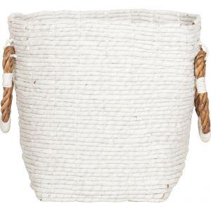 Laundry Basket Shine White