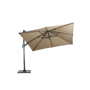 Zweefparasol Hawaii excl.voet 4-kant 3x3m. taupe