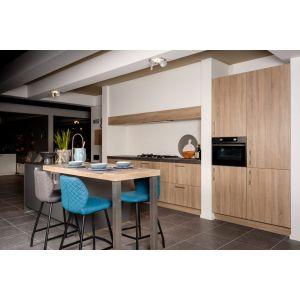 Moderne rechte keuken licht eiken Unit 1-1