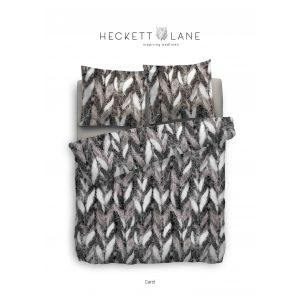 Heckett & Lane DBO Carol Zwart/Wit 140x200 Flanel