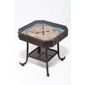 Bijzettafel Clock Antique