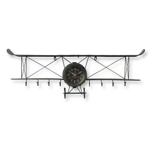 Wandklok Vliegtuig