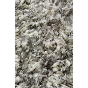 Karpet Twilight zilver/wit mix rond 160