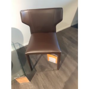 (Showroommodel) Natuzzi Stoel Pi Greco Dark Brown