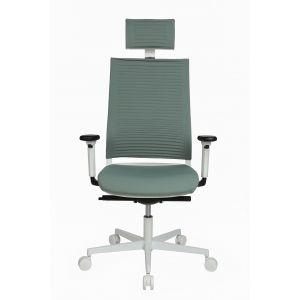 Topstar Bureaustoel Sitness Life 80 Wit/Grijsgroen
