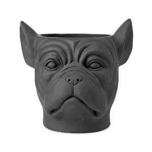 Feelings Deco Planter Bulldog Black