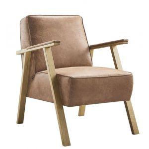 IN.HOUSE Fauteuil Valanto Cognac