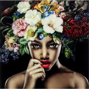 Feelings Wanddeco Pretty Flower Woman