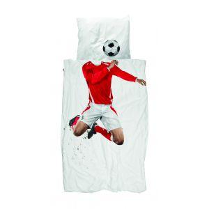 Snurk Dekbedovertrek Soccer Rood 140x200/220