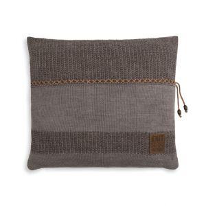 Knit Factory Roxx Kussen 50x50 Bruin/Taupe