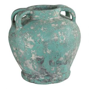 Belly Pot Sarong Green Ceramic 4 Ears S