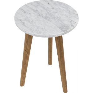 Bijzettafel Zuiver White Stone S