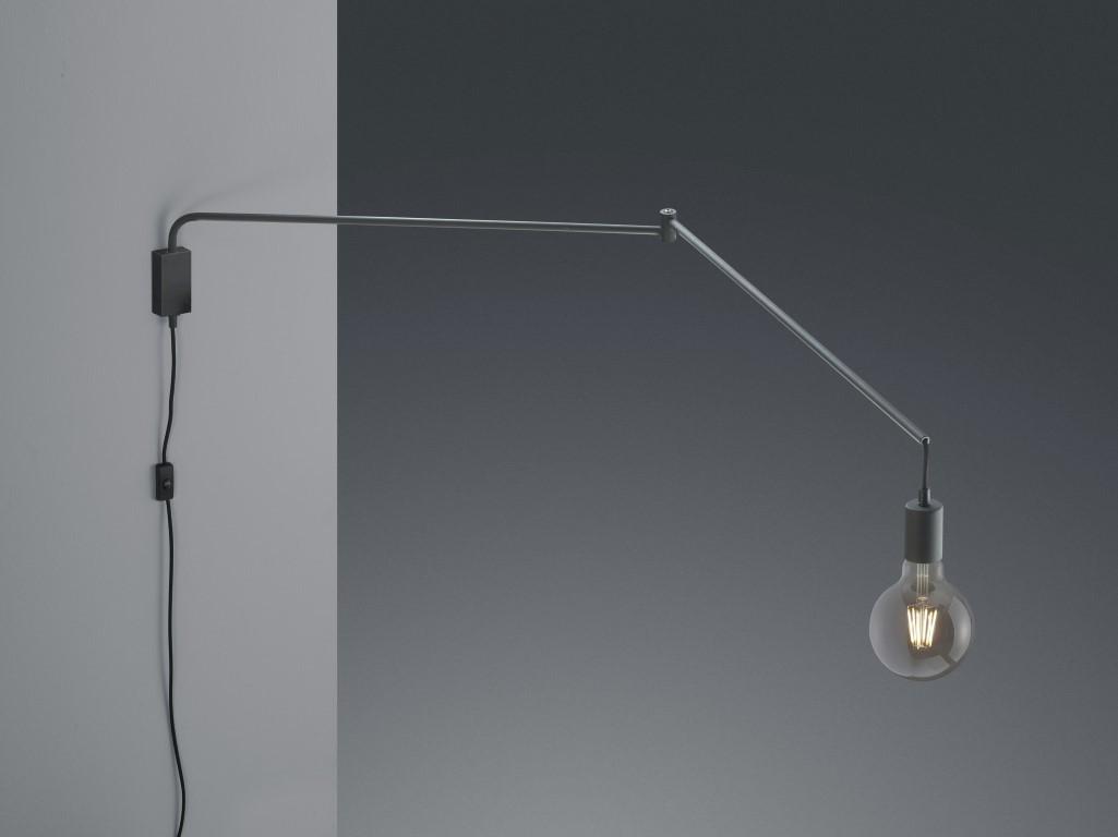 Trio Wandlamp Line Zwart