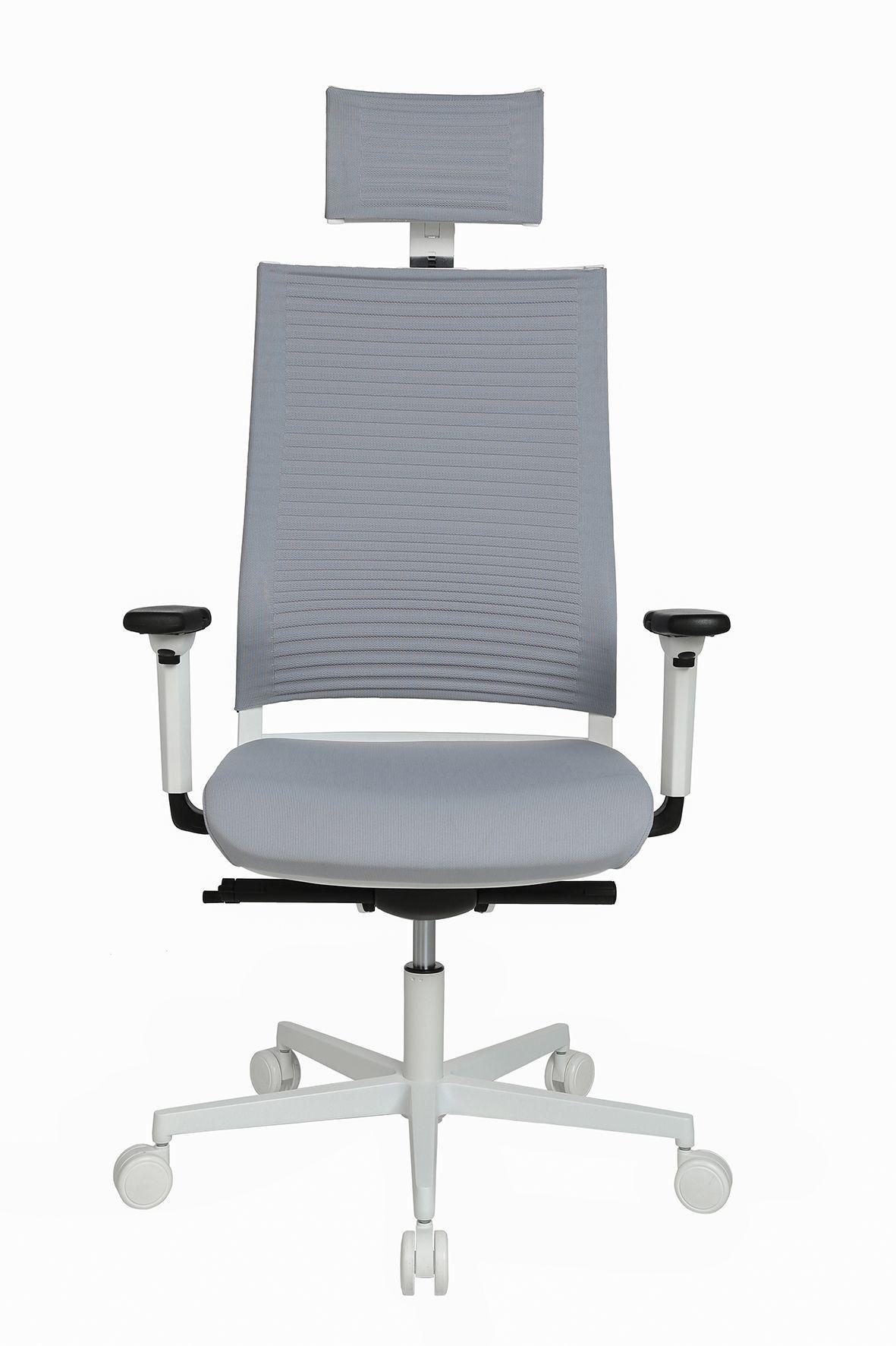 Topstar Bureaustoel Sitness Life 80 Wit/Grijs