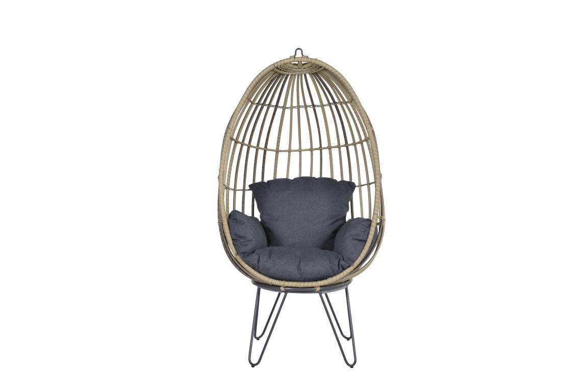 Swingchair Egg Panama Zwart