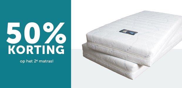 50% korting matras